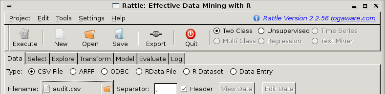 Data Mining Survivor: Data - CSV Option